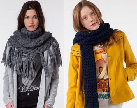 bufandas y guantes