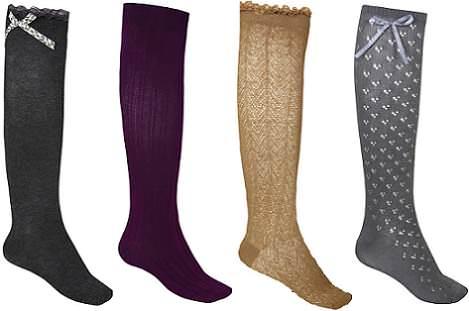 calcetines y medias blanco