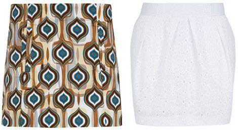 faldas de blanco
