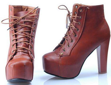 tendencias del otoño 2011: botines con cordones y tacon