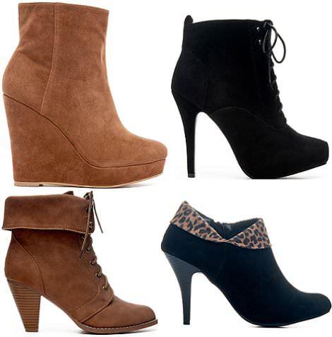 botas y botines de blanco