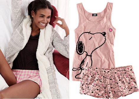 lencería y pijamas de hm
