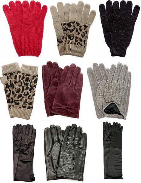 gorros y guantes de Blanco para el frío