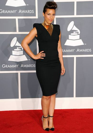 Alfombra roja Grammy 2012 Alicia Keys
