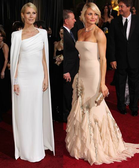 Alfombra roja de los Oscar 2012 Gwyneth Paltrow y Carmeron Diaz