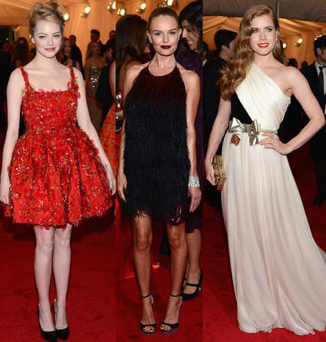 Alfombra roja MET 2012: Emma Stone, Kate Bosworth y Amy Adams