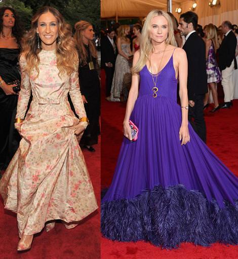Alfombra roja MET 2012: Sarah Jessica Parker y Diane Kruger