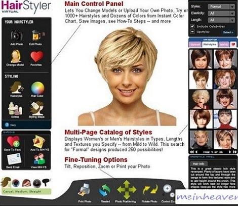 programa para probar cortes de pelo y maquillaje