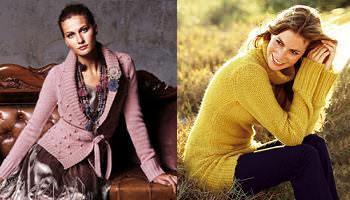 Chaqueta y jersey de lana