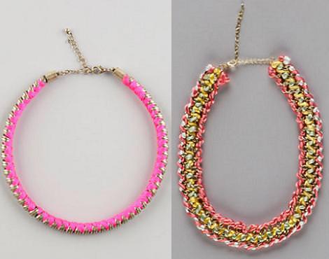 Moda primavera verano 2012 : collares de Bershka