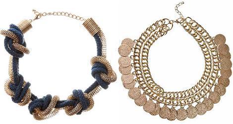 Moda primavera verano 2012 : collares de Blanco