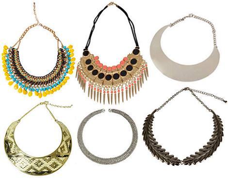 Moda primavera verano 2012 : collares de Zara