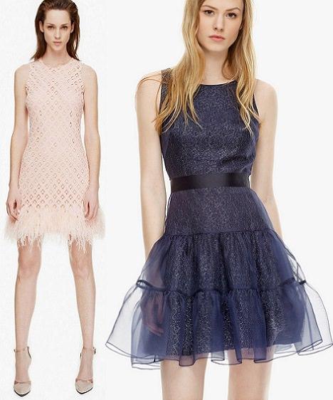 vestidos de fiesta cortos de cóctel de Adolfo Domínguez primavera verano 2014