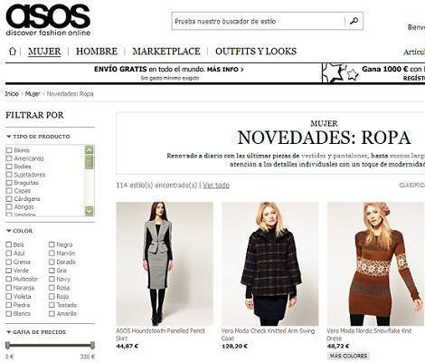 Asos online en España