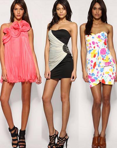 Vestidos de cóctel, verano 2010