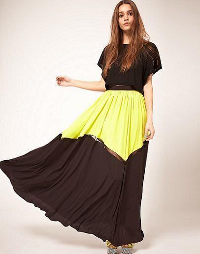 falda larga de asos