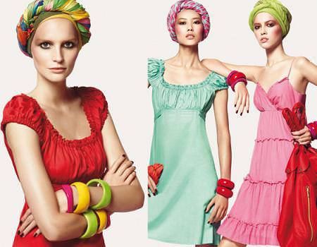 vestidos de Benetton