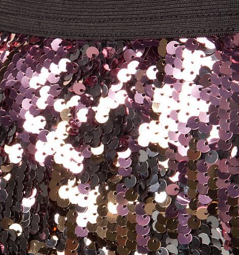 Falda de lentejuelas de Bershka