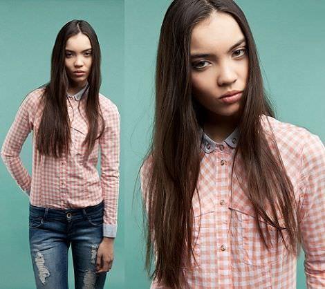 camisa de cuadros de Bershka