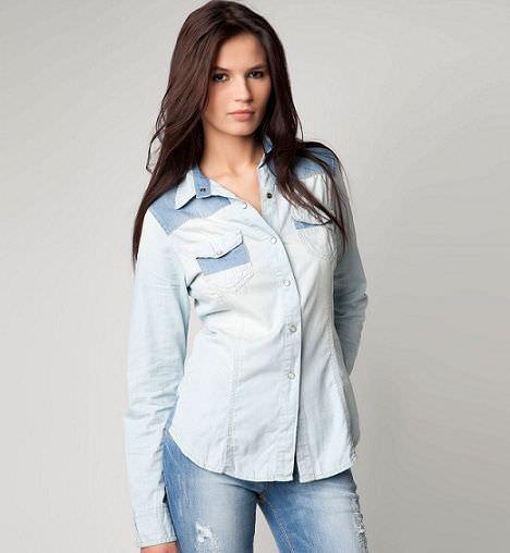 nueva ropa de bershka primavera camisa denim
