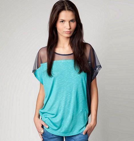 nueva ropa de bershka primavera camiseta combinada