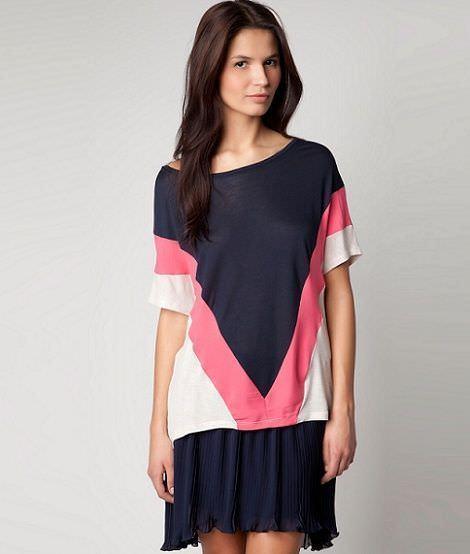 nueva ropa de bershka primavera camiseta tricolor