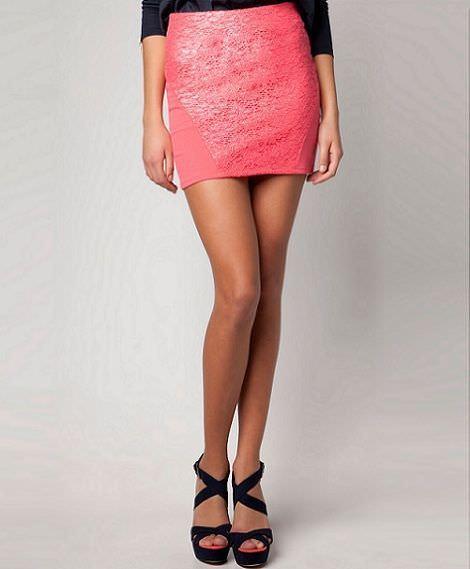 nueva ropa de bershka primavera falda encaje