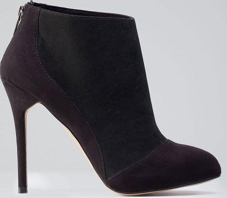 zapatos de bershka con tacón bicolor
