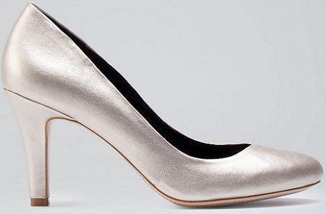 zapatos de bershka metalizados