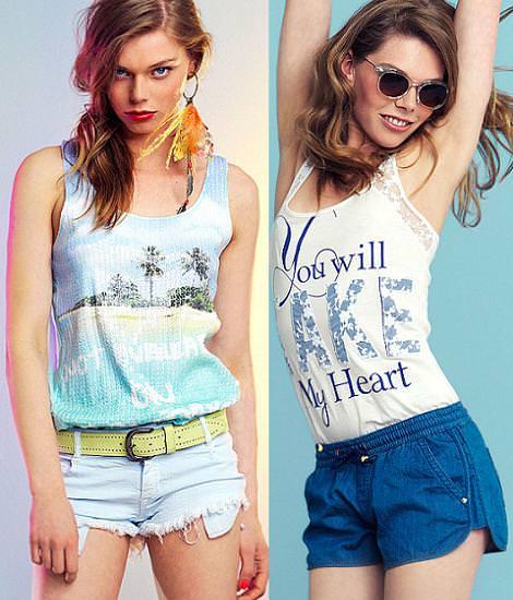 Bershka nueva ropa y looks del verano 2012