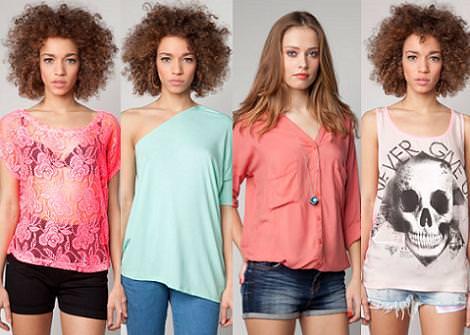 Bershka primavera 2012 camisetas y camisas