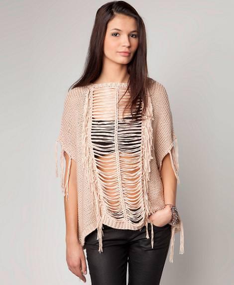 Nueva ropa de Bershka primavera 2012, Jersey calado