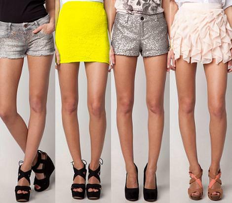Bershka primavera 2012 shorts y faldas