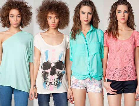 Bershka primavera verano 2012: camisetas