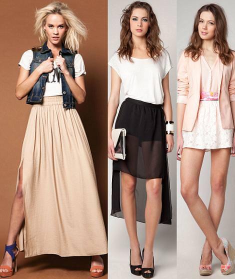 Bershka primavera verano 2012: faldas