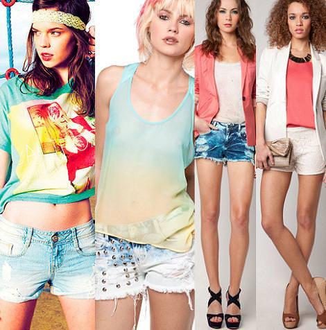 Bershka primavera verano 2012: shorts