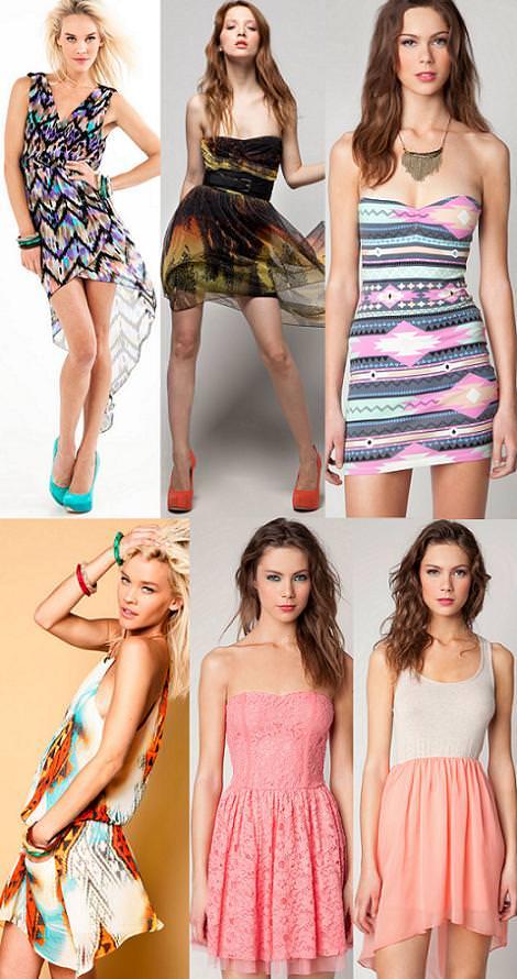 Bershka primavera verano 2012: vestidos