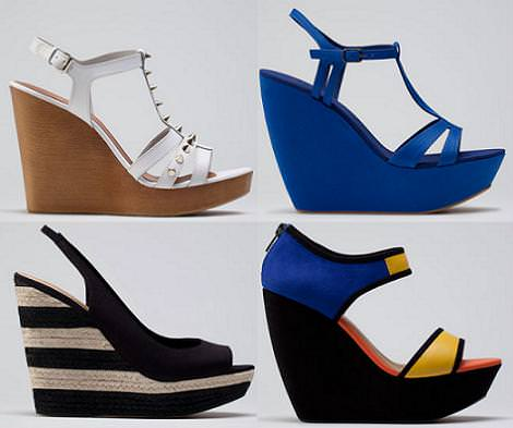 Bershka zapatos verano 2012 cuñas