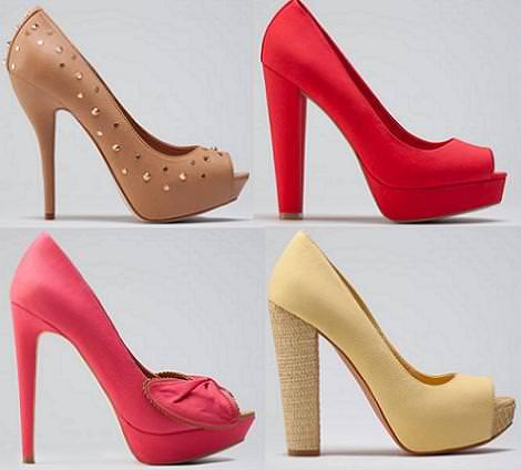 Bershka zapatos verano 2012 peep toe