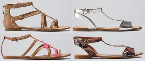 Bershka zapatos verano 2012 sandalias planas