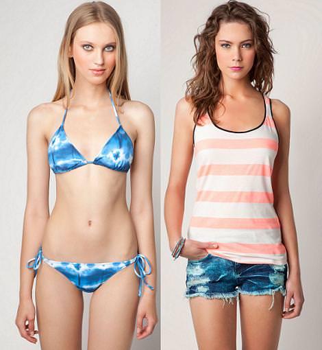 Bikinis de Bershka y ropa de playa 2012
