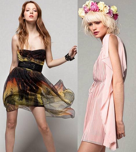 Vestidos de fiesta de Bershka primavera verano 2012