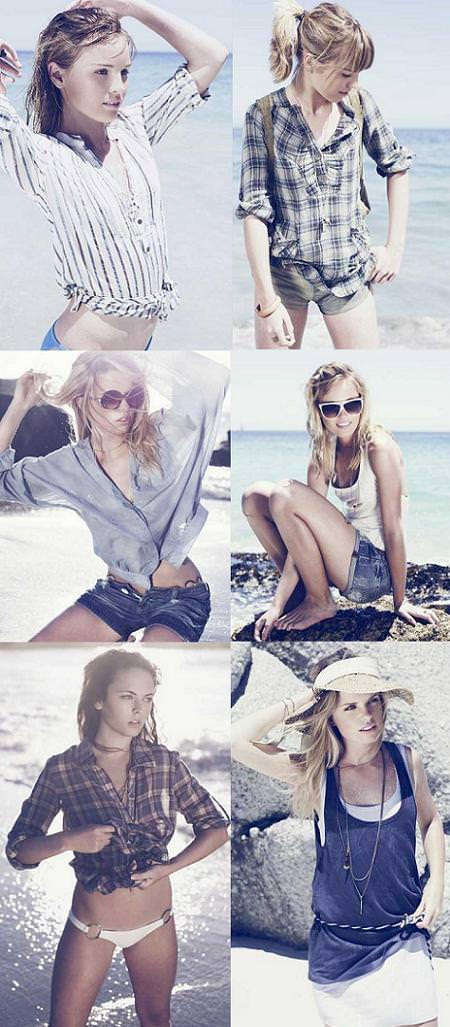 moda playa de Bershka 2009