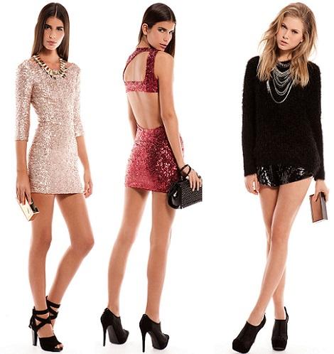 vestidos de lentejuelas fiesta de bershka nochevieja y navidad 2013