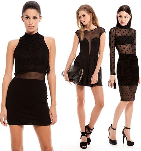 vestidos de fiesta con transparencias