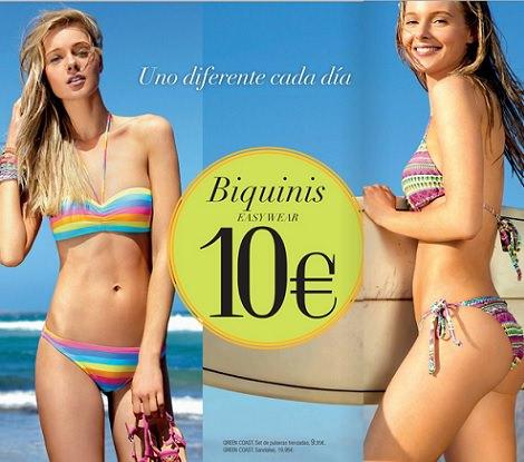 bikinis baratos de El Corte Inglés primavera verano 2014