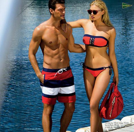 bikinis y bañadores navy de El Corte Inglés primavera verano 2014