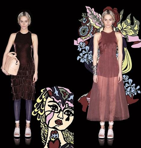 ropa de fiesta de Bimba y Lola otoño invierno 2014 2015