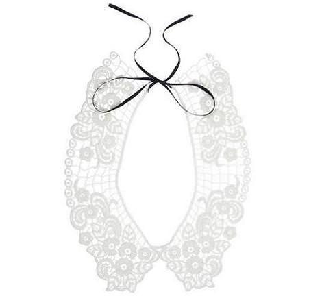 Collar babero de crochet de Blanco