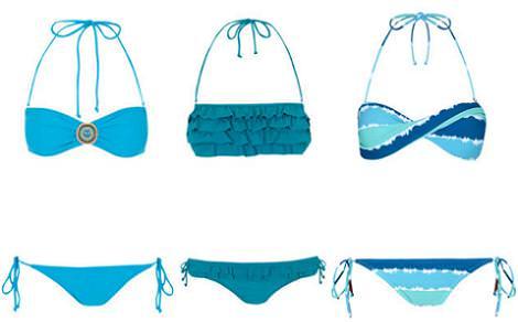 Bikinis Blanco 2012 azules